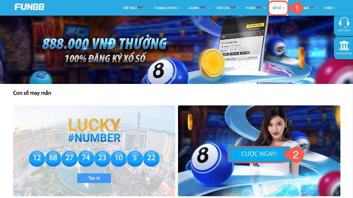Fun88 thiết kế riêng sản phẩm VIET LOTTERY cho thị trường lô đề tại Việt Nam